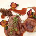 Biodynamically farmed lamb, yellow carrot puree, mint sauce caviar