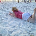 Pure white sand