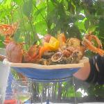 piatto reale con frutti di mare