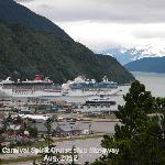 Stop overlooking Skagway with 2 cruise ships in port
