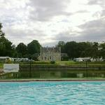 View from rear of Chateau at far side of pool