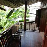 Veranda in front of fan room