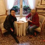 in a drawing room of Casa Petrarca