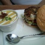 Halibut burger