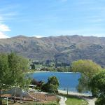 View from room towards Wanaka town centre