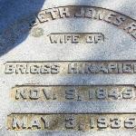 Elizabeth Reed's grave