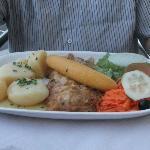Fried scabbard fish & banana
