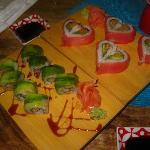 dinner at Sushi Amor