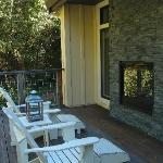 Outdoor deck & fireplace