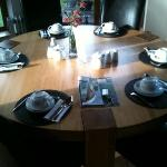 beautiful breakfast table in the conservatory...