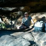 Evan in Aboriginal sacred cave talking story