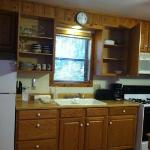 Kitchen in cabin 113