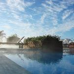 las piscinas a primera hora de la mañana