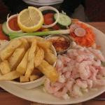 prawn salad...served with chips!!!