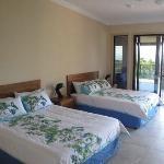 Guest room - all have 2 queen beds,open to verandah