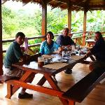 main lodge at La Anita with Pablo and new friends