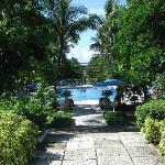 pool & versailles garden behind