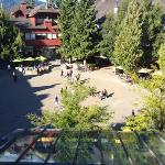 view from balcony - village square