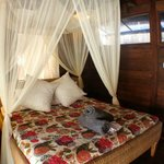 Bali chic double bed room