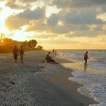 Sunrise from resort beach