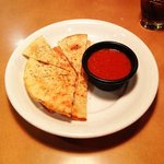 Pizza bread with bolognese sauce
