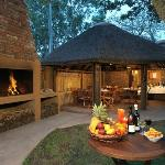 Have your own braai and eat in our lapa