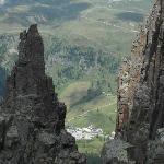 vista del passo dal Col Margherita