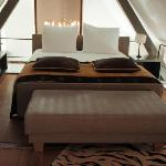 Twin matresses made into a queen bed