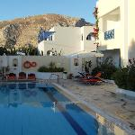 Part of the pool area looking towards Ancient Thira
