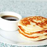 Pancakes w./syrup. Try with some steaming hot coffee