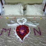 Honeymoon-Dekoration