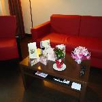 Living room (the flower and card are mine :), not from hotel )