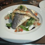 Sea Bass with tomatoes and basil