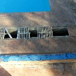 just some of the broken grills around pool