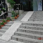 A steep entrance