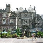 Front view of Craig-y-Nos Castle