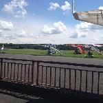 Vue sur la piste de l'aérodrome