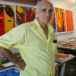 Don Jaime in his studio/gallery