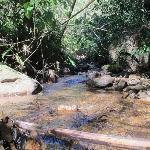 Córrego que passa pela propriedade