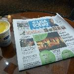 A complimentary paper while you have your morning coffee (or in my case ornage juice!)