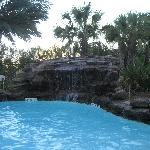 waterfall in saltwater pool