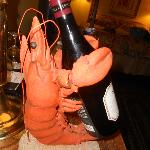 Who doesn't love a lobster wine caddy!