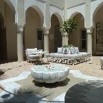 Il patio con la fontana
