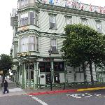 The Eagle House Victorian Inn. Nice place, friendly staff. Good eats at Gallagher's.