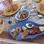Crevettes et escargots à la tunisienne