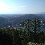 Stunnng view of Lake Como from the top of Brunate