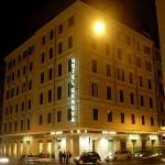 Hotel Genova by night.