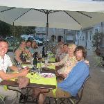 Enjoying the outside dining :-)
