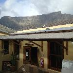 View of Table Mountain from Inner Court