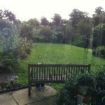 view of just a part of the grounds from the breakfast room